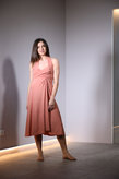 Half calf lenght dress in breathable micromodale